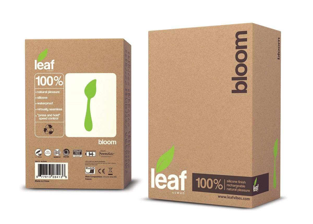 Зеленый перезаряжаемый вибромассажер Bloom by Leaf