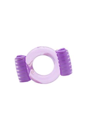 Фиолетовое эрекционное кольцо с вибрацией Duovibrus I