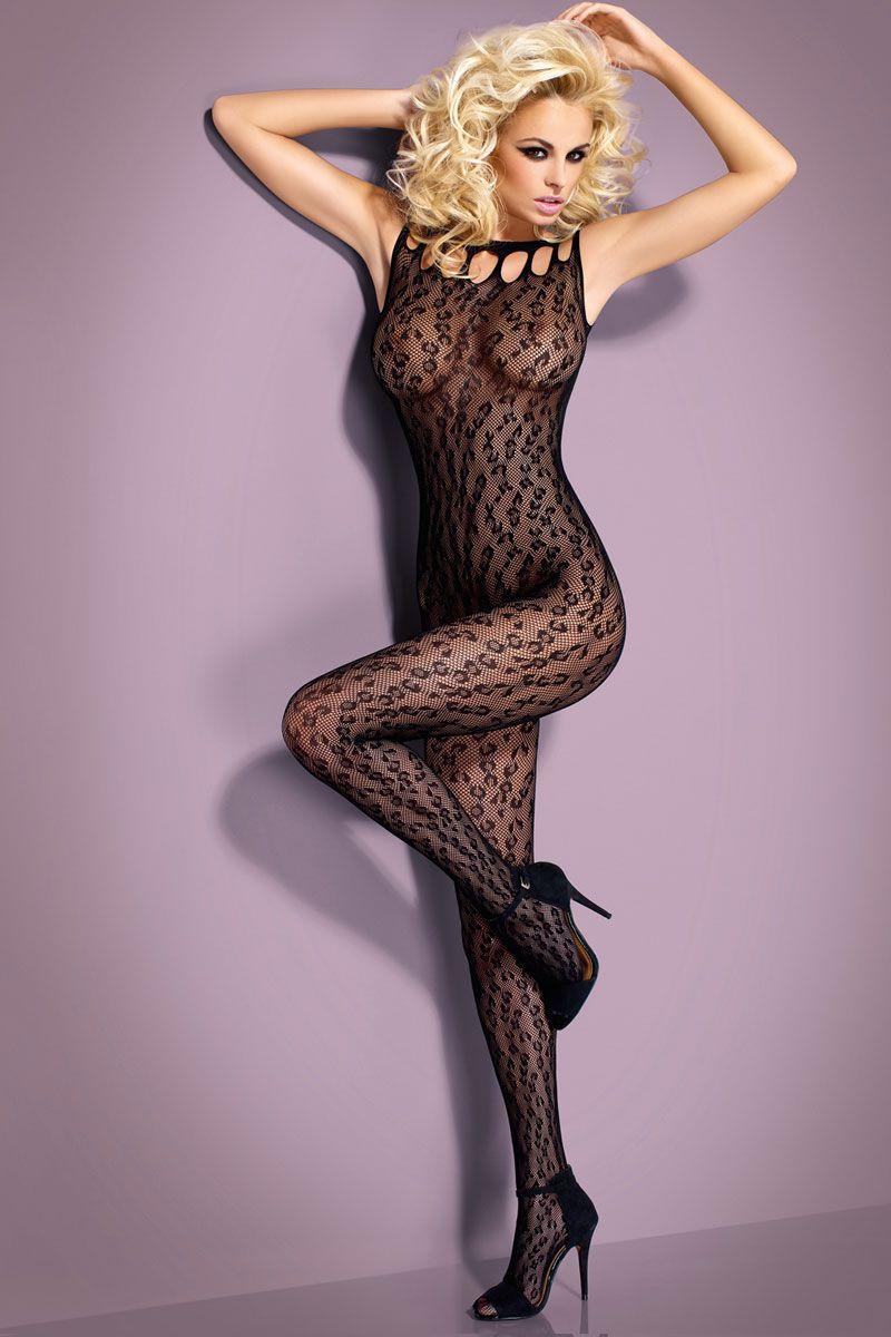 Кружевной комбинезон с леопардовым плетением  - фото 246530