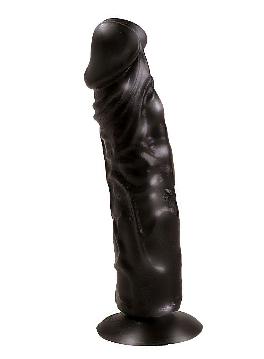 Чёрный фаллоимитатор без мошонки - 19,5 см. - фото 187080