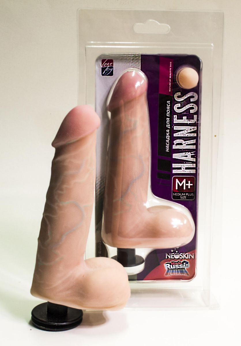 Насадка на трусики Harness размером Medium-plus Size - 17,5 см. - фото 141012