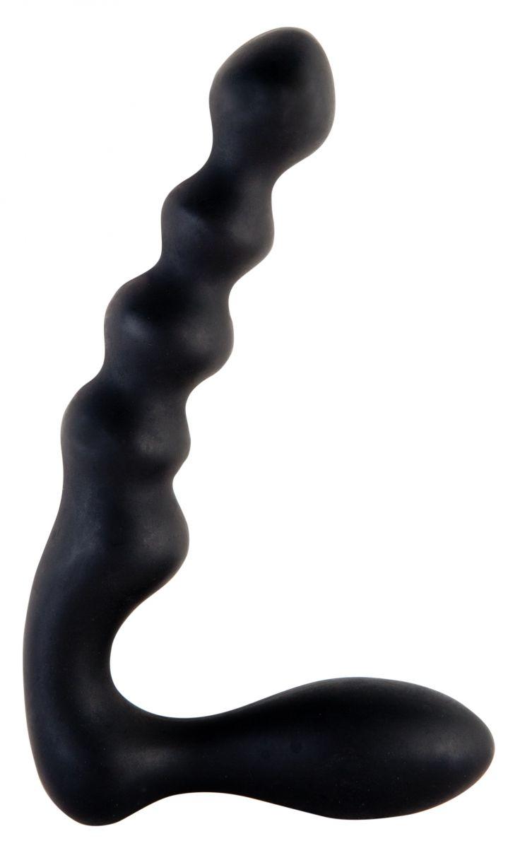 Чёрный анальный стимулятор в форме буквы L