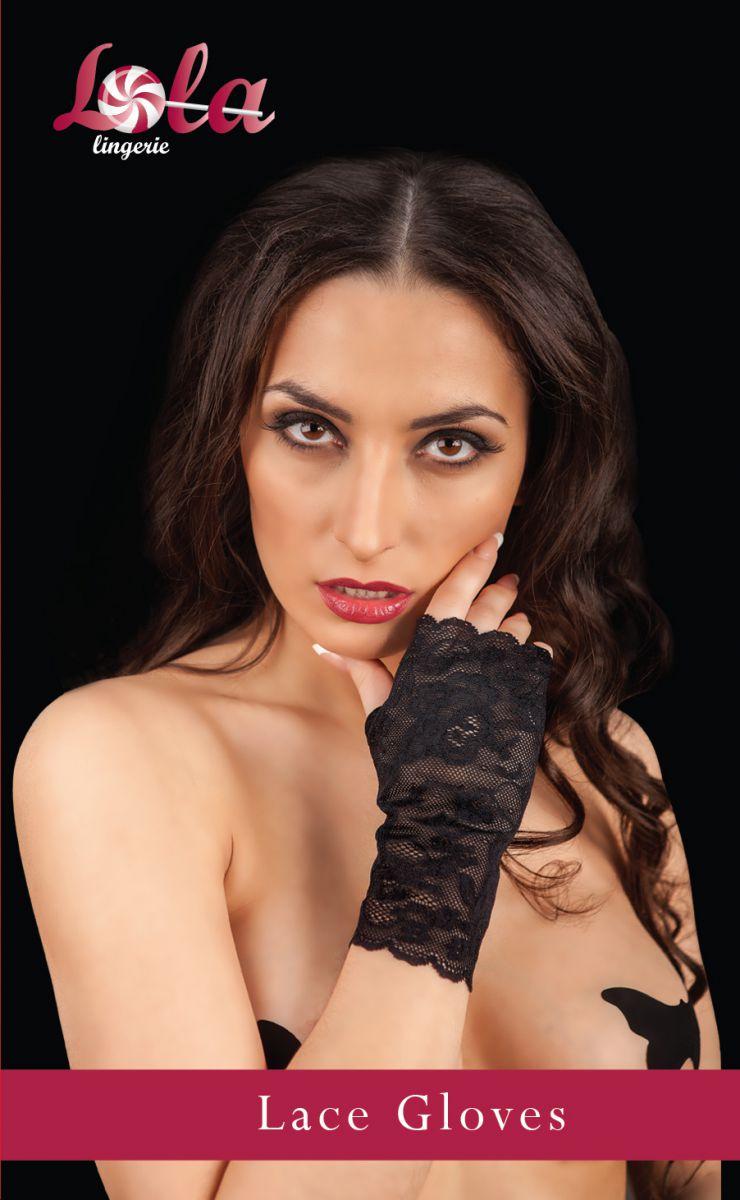 Ажурные перчатки с открытыми пальчиками - фото 141145