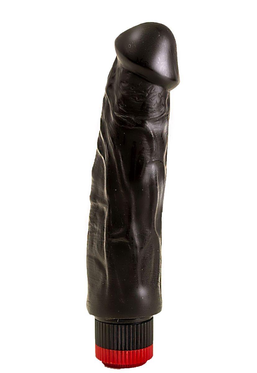 Вибратор-реалистик с крупными венками - 18,5 см. - фото 141347