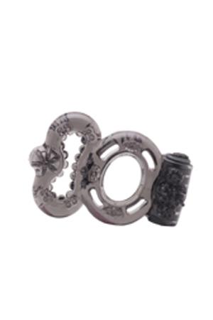 Пепельное стимулирующее кольцо с вибрацией Orgasmus I