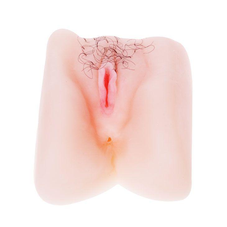 Мягкая вибрирующая вагина с волосиками и анусом