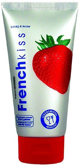 Съедобный лубрикант Frenchkiss с ароматом клубники - 75 мл.