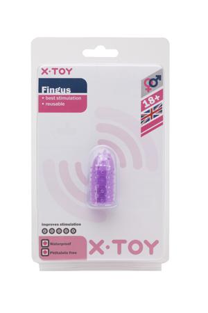 Фиолетовое стимулирующее кольцо на палец Fingus с вибрацией