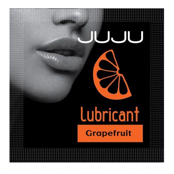 Пробник съедобного лубриканта JUJU с ароматом грейпфрута - 3 мл.
