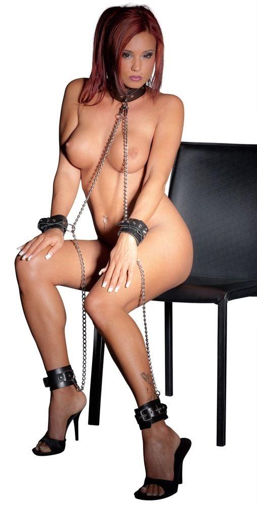 Комплект фиксации All-over Chain: наручники, ошейник, кандалы - фото 141992