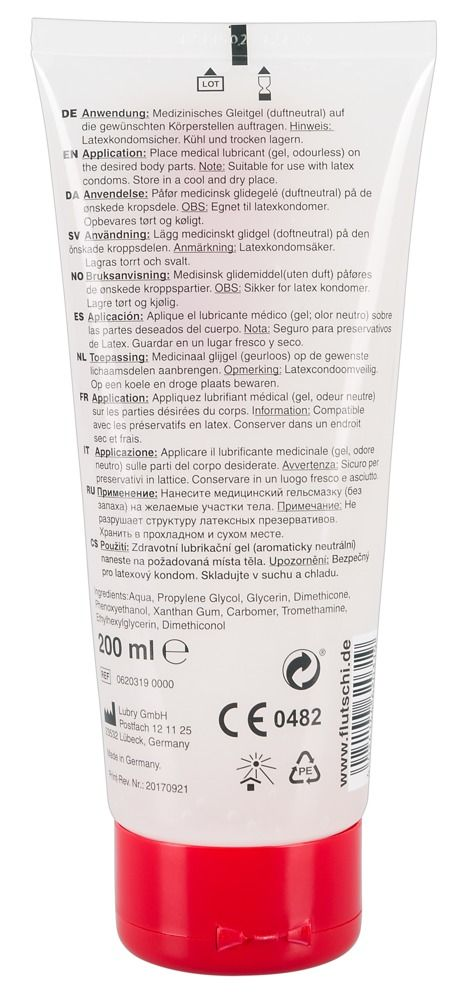 Смазка на водно-силиконовой основе Flutschi Professional - 200 мл.  - фото 183871