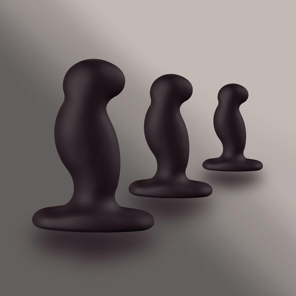 Набор из 3 массажеров простаты чёрного цвета NEXUS ANAL STARTER KIT