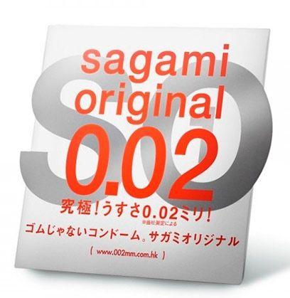 Ультратонкий презерватив Sagami Original 0.02 - 1 шт.