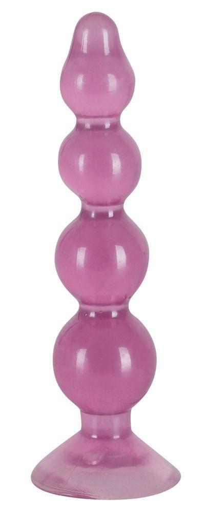 Фиолетовый анальный стимулятор-ёлочка Anal Beads - 13 см.
