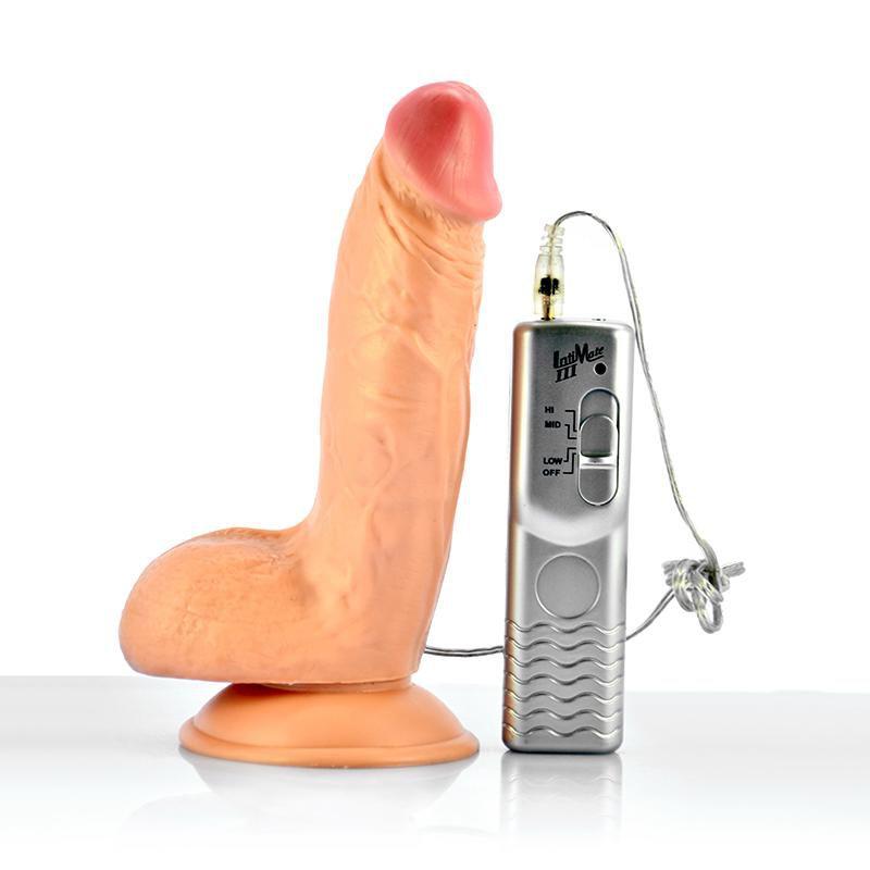 Реалистичный вибратор с выносным пультом BLASTER - 19 см. - фото 247173