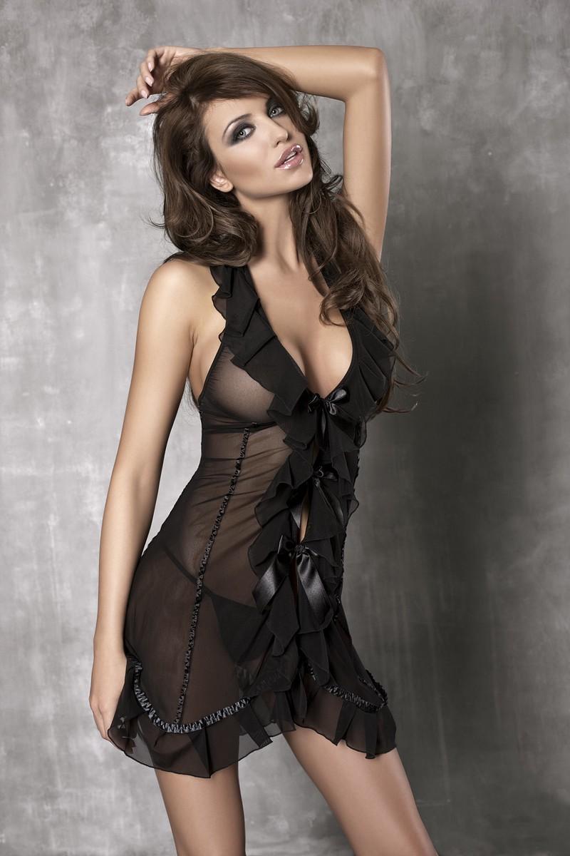 Сорочка с рюшевой оторочкой Seduce Me - фото 142365
