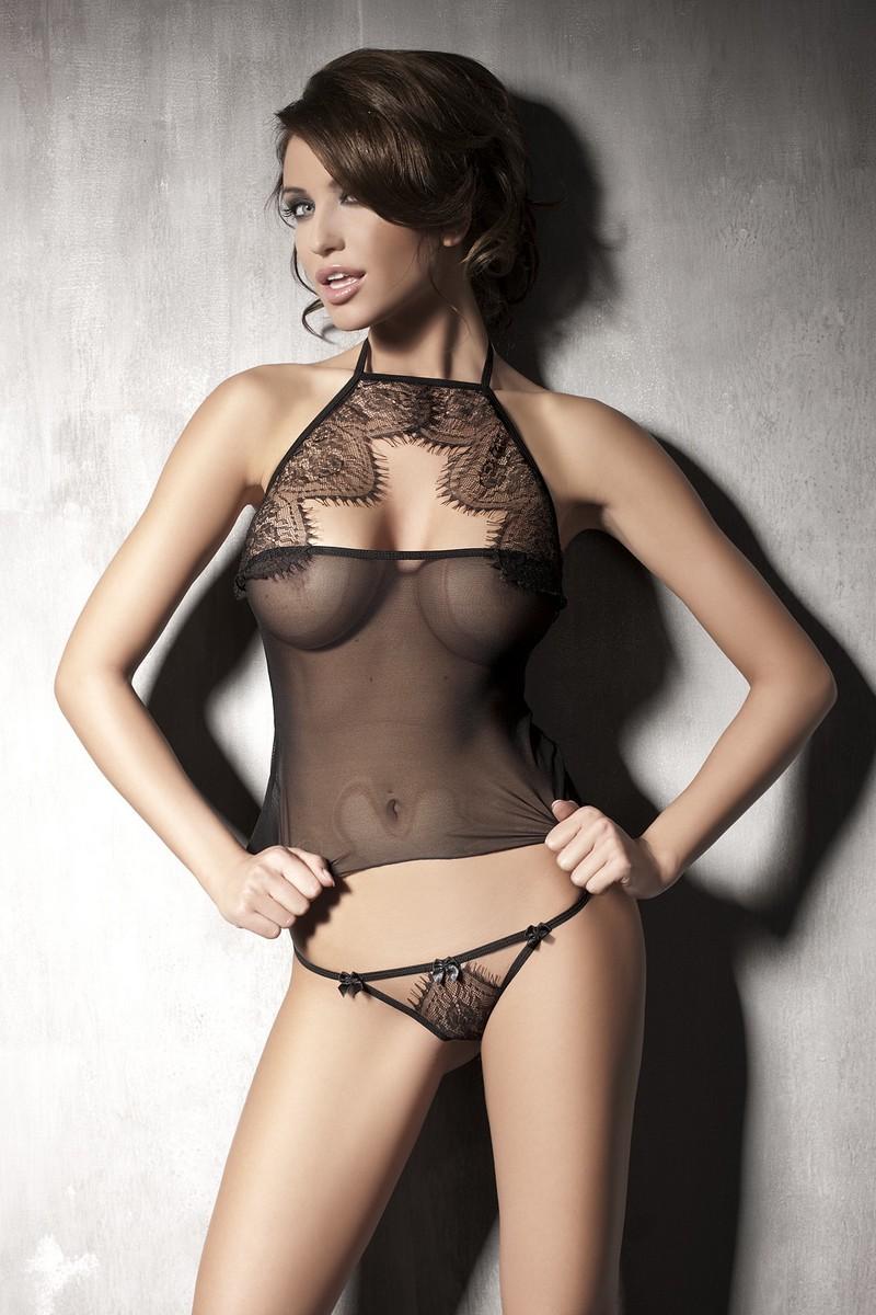 See thru lingerie nude