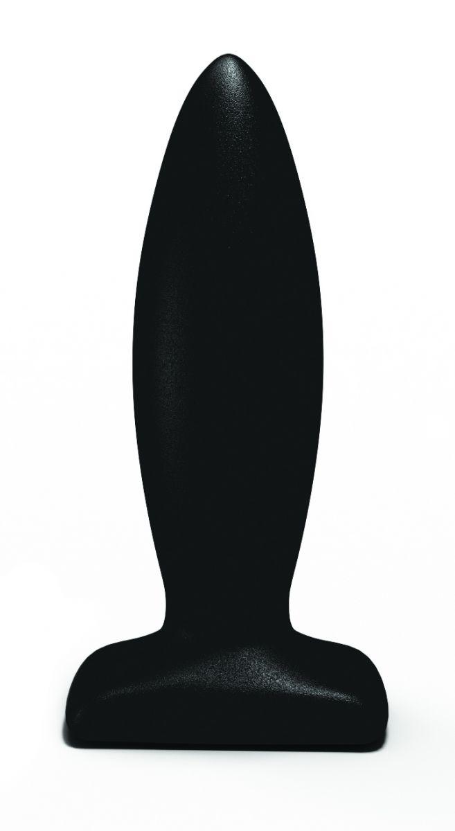 Чёрный анальный стимулятор Streamline Plug - 10 см.