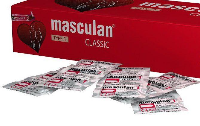 Розовые презервативы Masculan Classic Sensitive - 150 шт.