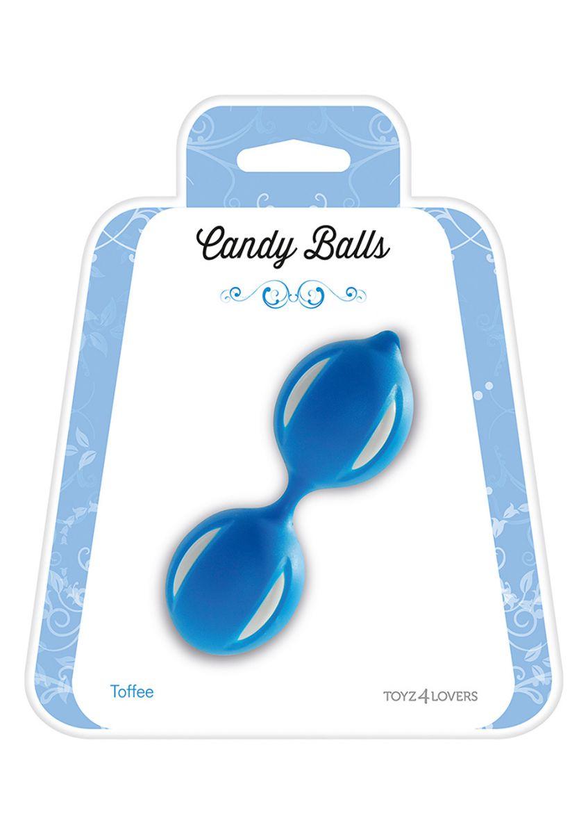 Голубые вагинальные шарики CANDY BALLS TOFFEE BLUE - фото 247402