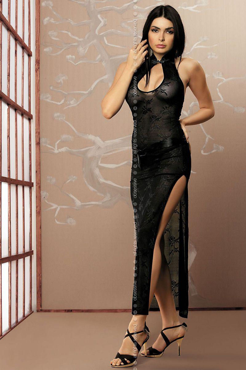 Полупрозрачное платье в пол Aya в восточном стиле - фото 247569