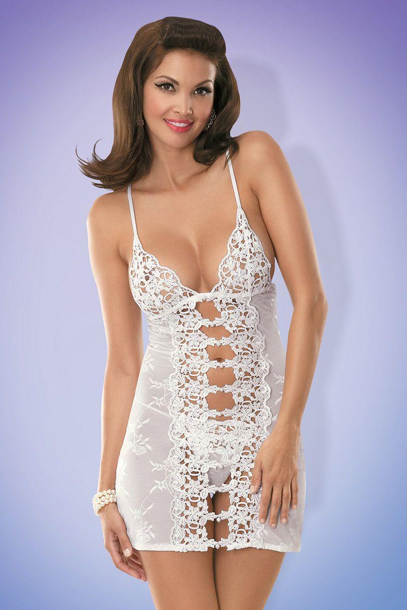 Женственная сорочка с гипюром Bride - фото 221941