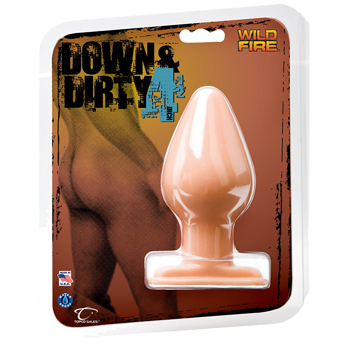 Телесная анальная пробка Wildfire Down   Dirty 4.5 Butt Plug - 12,7 см.
