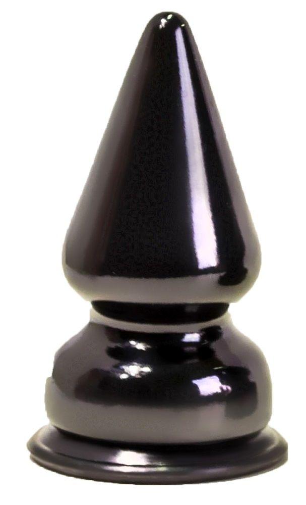 Чёрный анальный плаг MAGNUM-1 - 10 см.