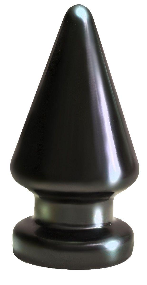 Чёрный анальный плаг большого размера MAGNUM-2 - 13 см. - фото 142767