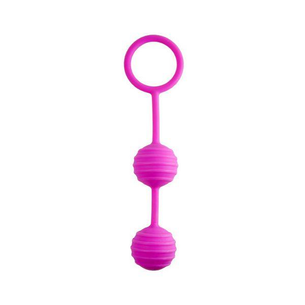 Розовые вагинальные шарики с кольцом
