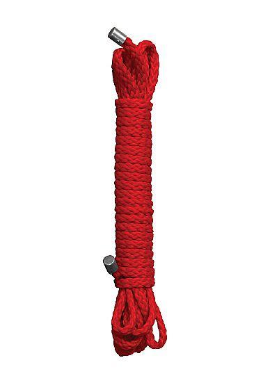 Красная веревка для бандажа Kinbaku - 10 м.