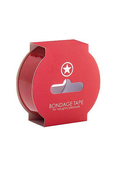 Красная лента Non Sticky Bondage Tape - 17,5 м.
