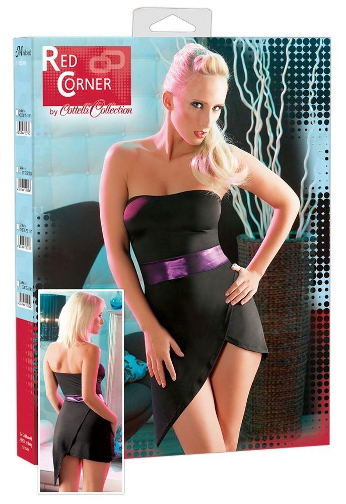Эротическое платье с открытыми плечами и широким поясом - фото 222342