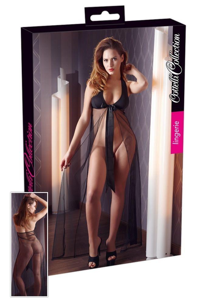 Сексуальная сорочка с длинным прозрачным подолом - фото 247919