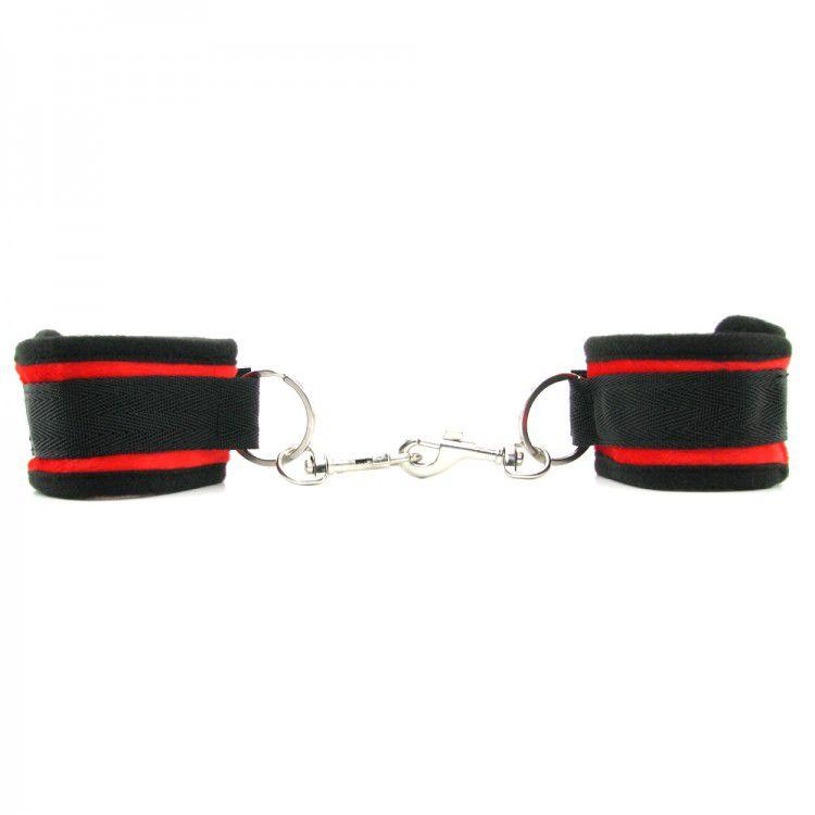Мягкие наручники с красными вставками Beginners Handcuffs Red