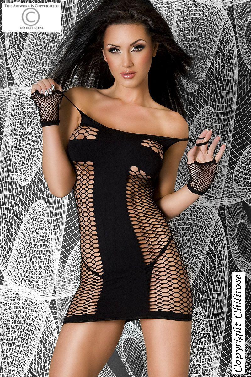 Эротическое платьице на тонких бретелях - фото 223029