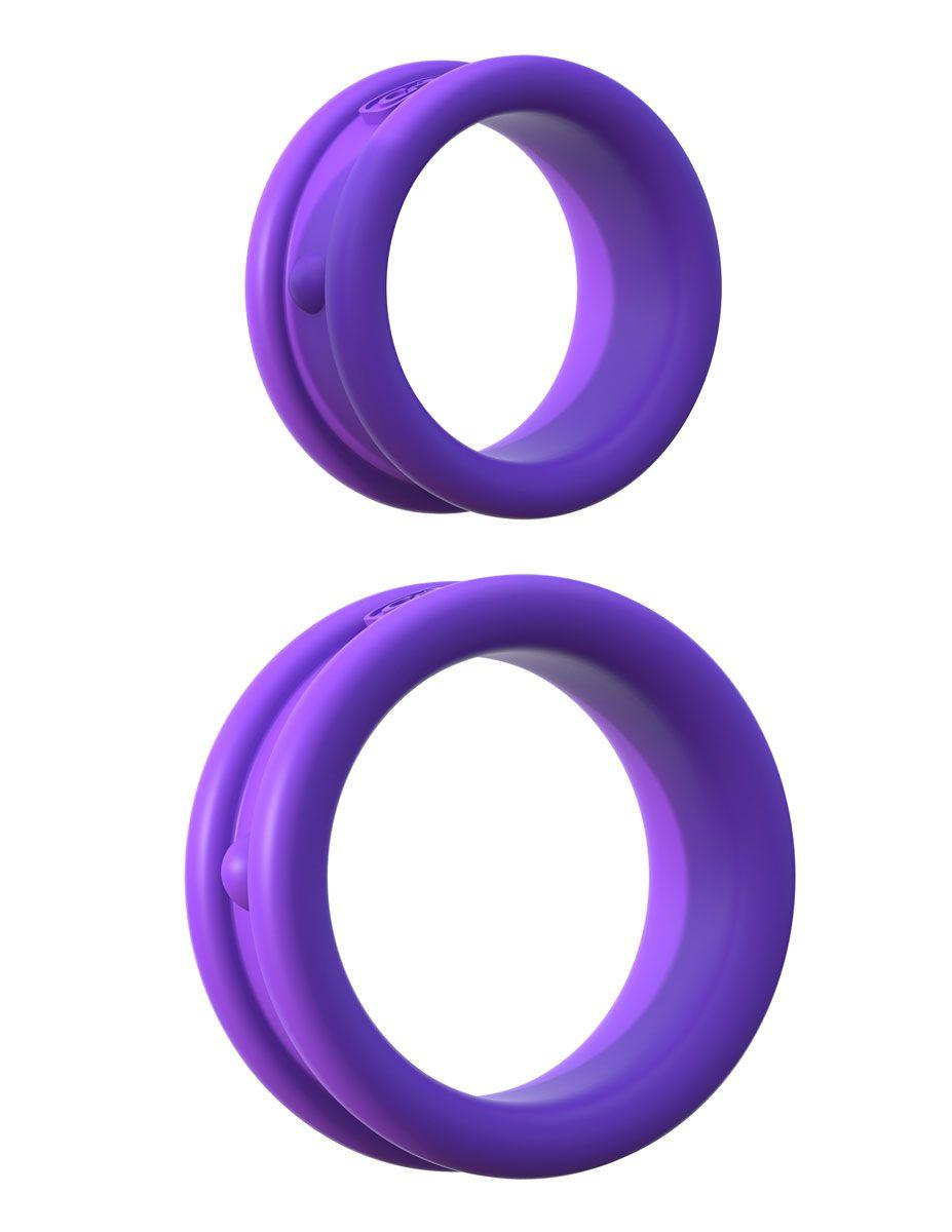 Набор из двух фиолетовых эрекцонных колец Max Width Silicone Rings - фото 143831