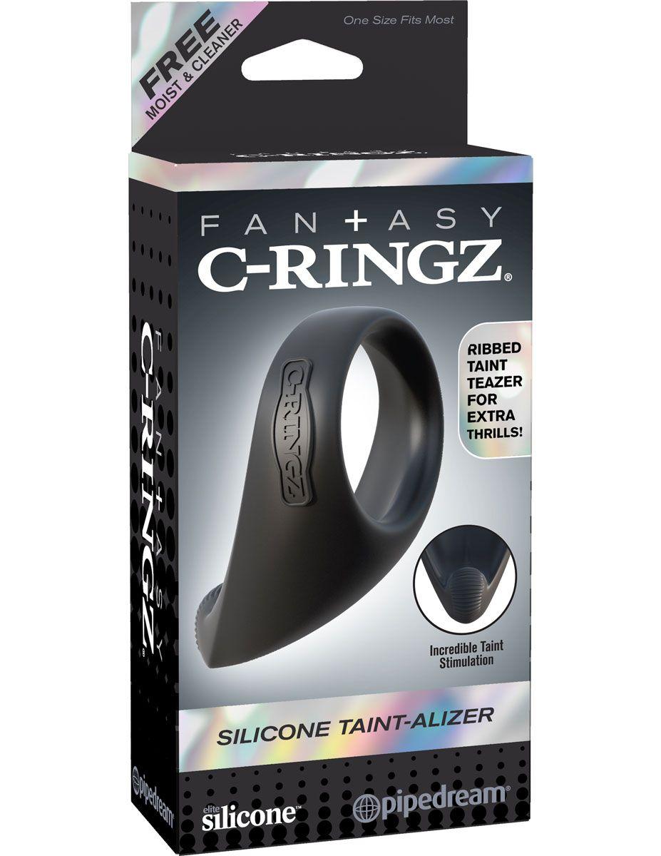 Эрекционное кольцо из силикона Silicone Taint-Alizer - фото 143883