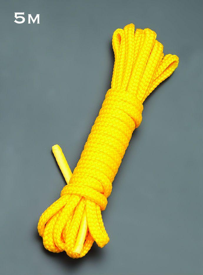 Желтая веревка для связывания - 5 м. - фото 143894