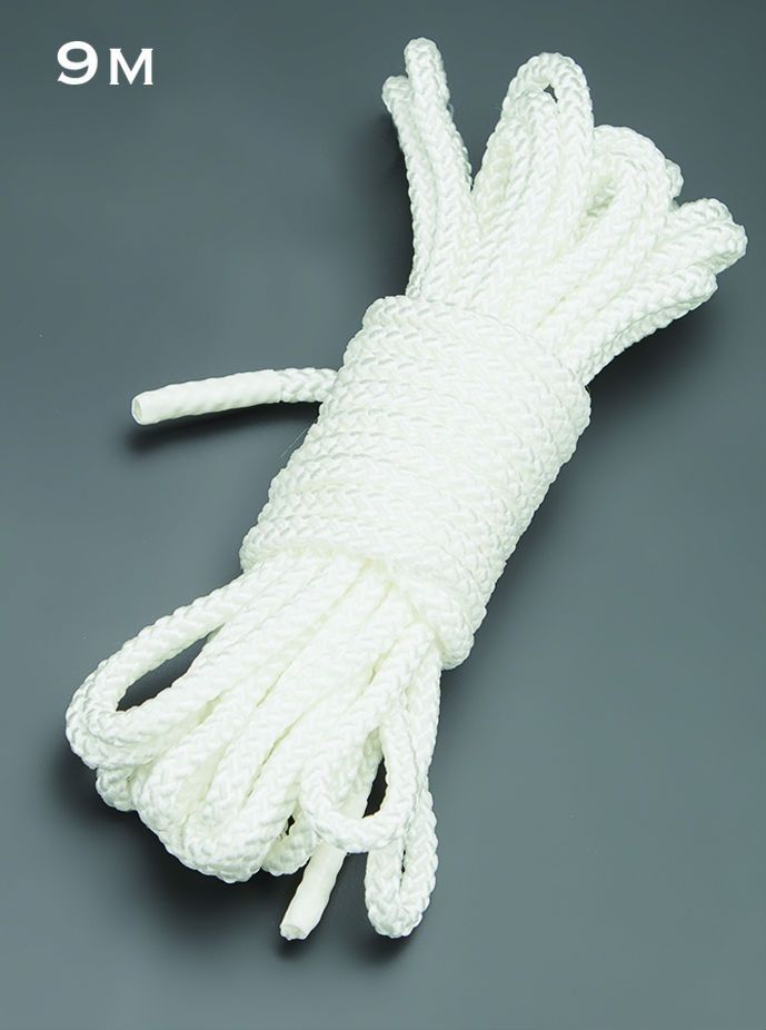 Белая веревка для связывания - 9 м.