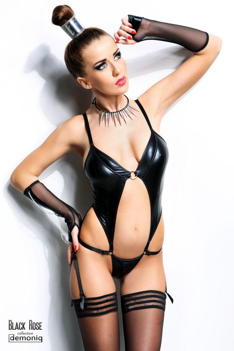 Сексуальное боди Nadine с открытым животиком - фото 144177