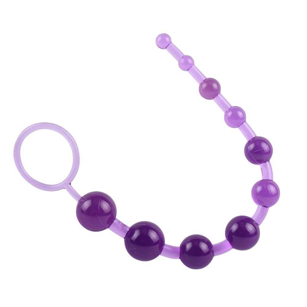 Фиолетовая анальная цепочка Sassy Anal Beads - 26,7 см.