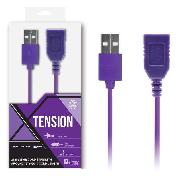 Фиолетовый удлинитель USB-провода - 100 см. - фото 129703
