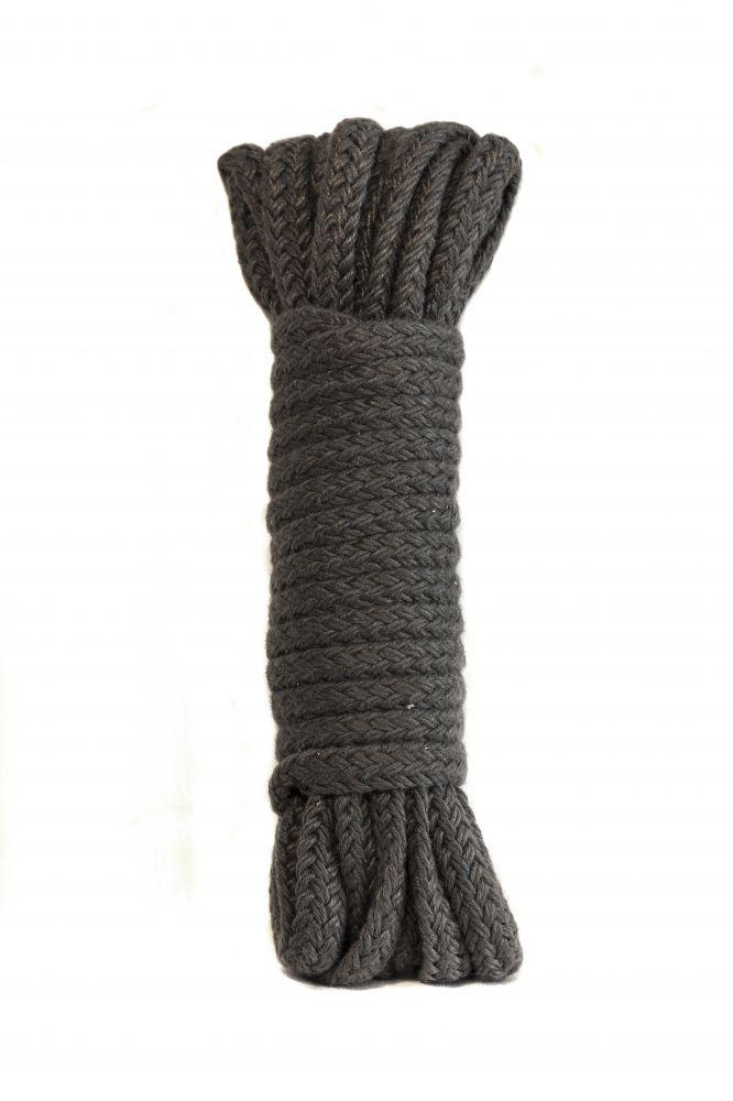 Серая веревка Bondage Collection Grey - 9 м. - фото 182191