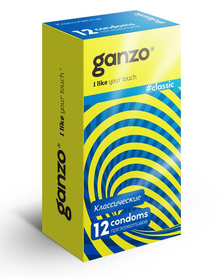 Классические презервативы с обильной смазкой Ganzo Classic - 12 шт. - фото 1659343