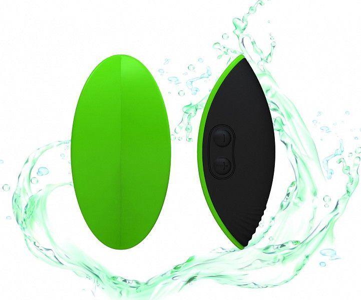 Зелёный вибромассажер Eros для стимуляции эрогенных зон - фото 145266