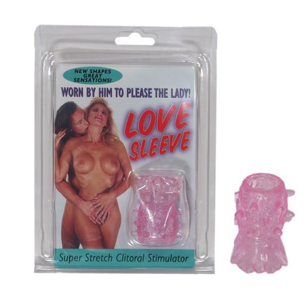 Розовая насадка с шипами в форме цветка STRETCHABLE LOVE SLEEVE - фото 145203