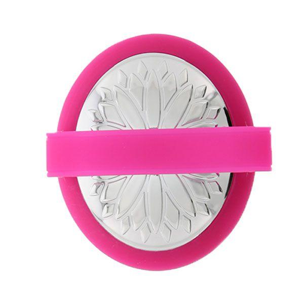 Розовая перезаряжаемая виброщёточка для клиторальной стимуляции MONA PINK - фото 145304