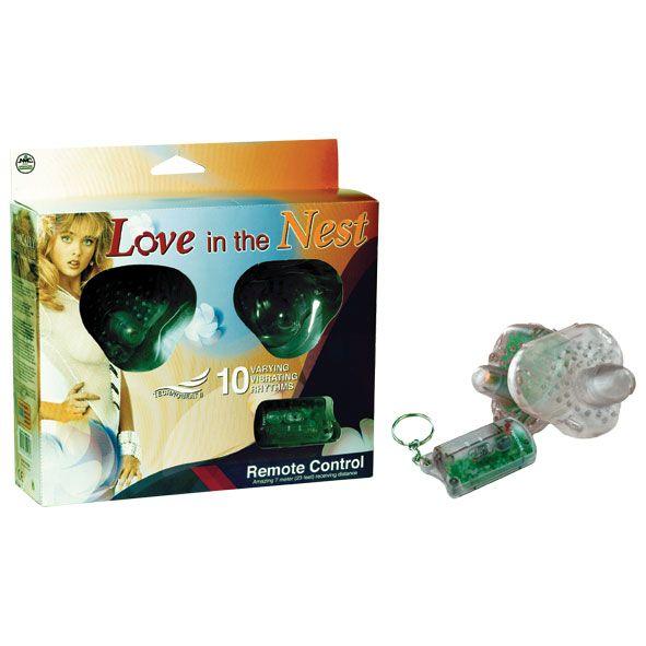 Прозрачный вибростимулятор на эластичных ремешках с дистанционным управлением Love in the nest - фото 1659901