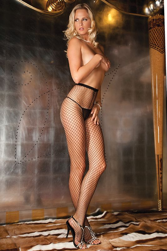 Колготы в крупную сетку DIAMOND NET PANTYHOSE